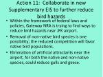 action 11 collaborate in new supplementary eis to further reduce bird hazards