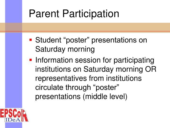 Parent Participation