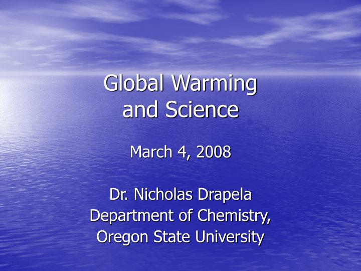 global warming and science n.