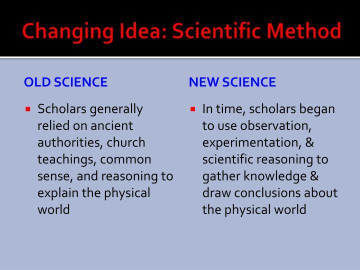 Changing idea scientific method