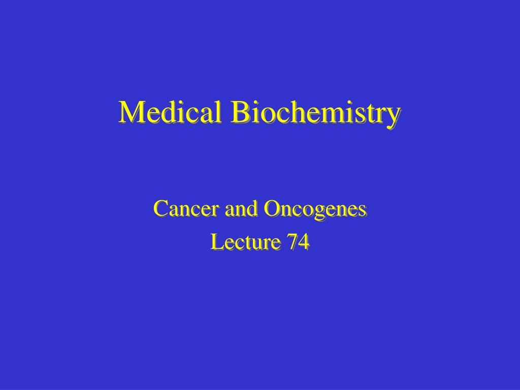 medical biochemistry l.
