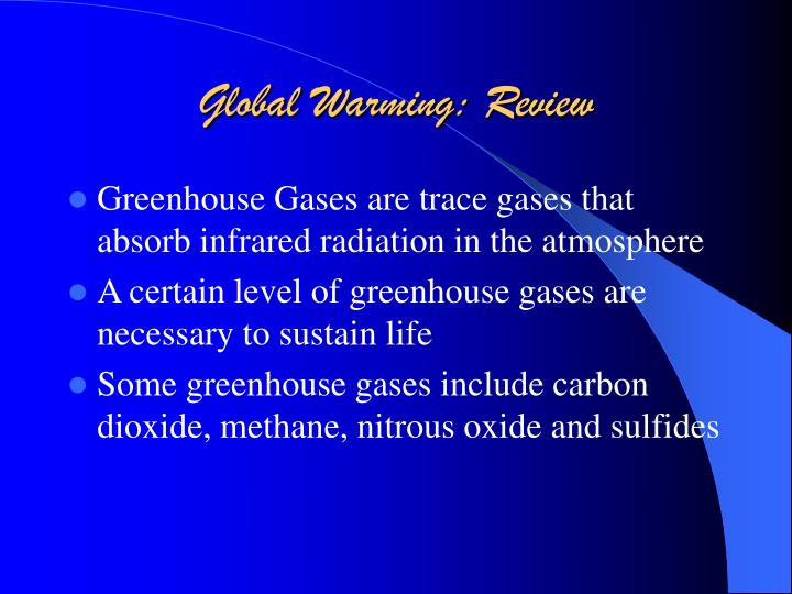 Global warming review