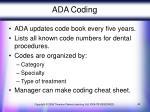 ada coding