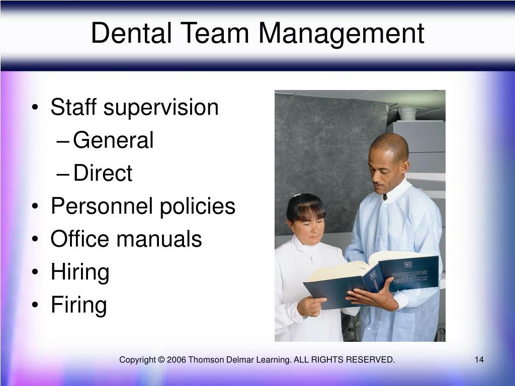 Staff supervision