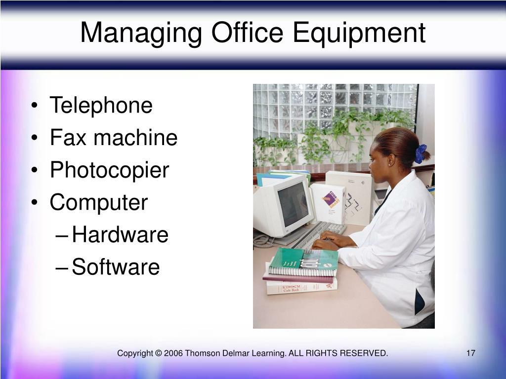 Managing Office Equipment