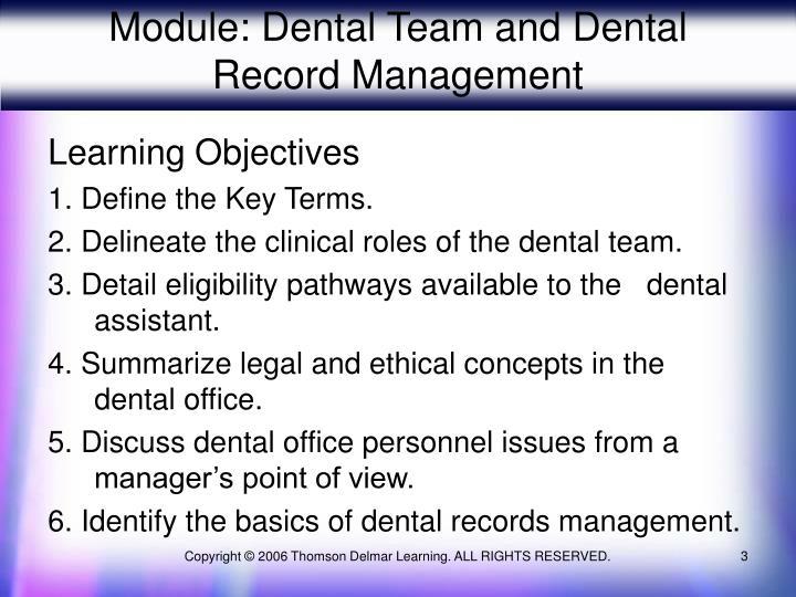 Module dental team and dental record management3