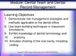 module dental team and dental record management4