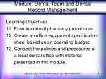 module dental team and dental record management5