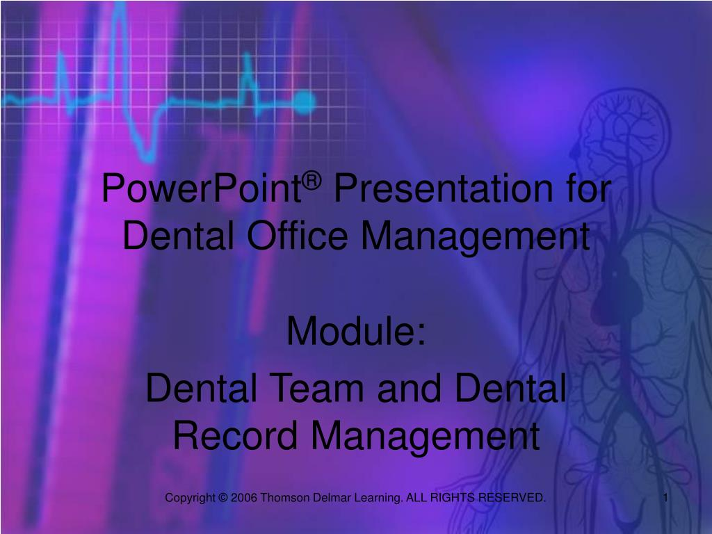 powerpoint presentation for dental office management l.