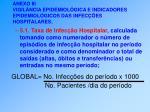 anexo iii vigil ncia epidemiol gica e indicadores epidemiol gicos das infec es hospitalares44