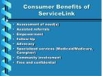 consumer benefits of servicelink