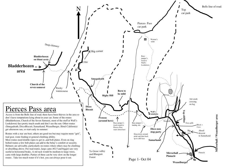 pierce s pass location map l.
