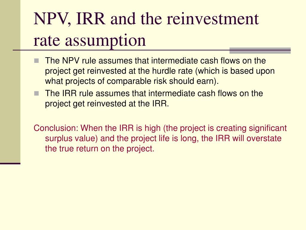 Reinvestment rate assumption mirraw mercado forex como funciona netflix