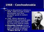 1968 czechoslovakia