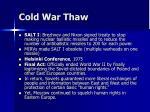 cold war thaw