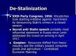 de stalinization