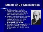 effects of de stalinization