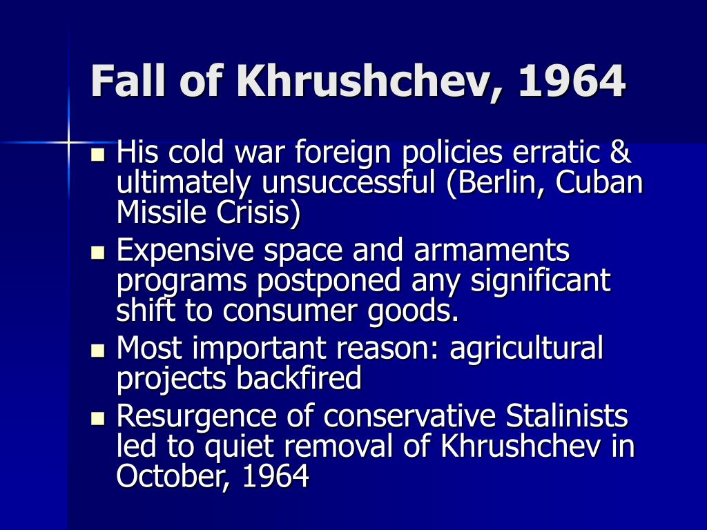 Fall of Khrushchev, 1964