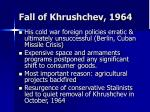 fall of khrushchev 1964