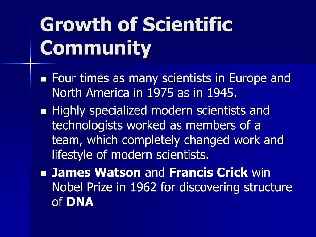 Growth of Scientific Community