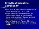 growth of scientific community