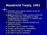 maastricht treaty 1991