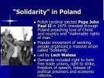 solidarity in poland
