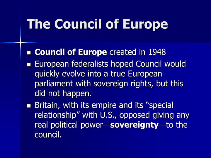 The council of europe