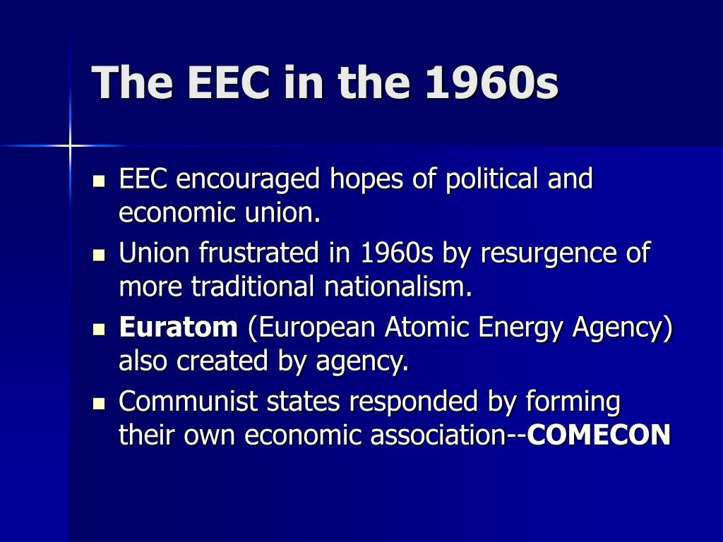 The EEC in the 1960s