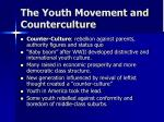the youth movement and counterculture