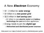 a new electron economy