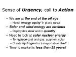 sense of urgency call to action