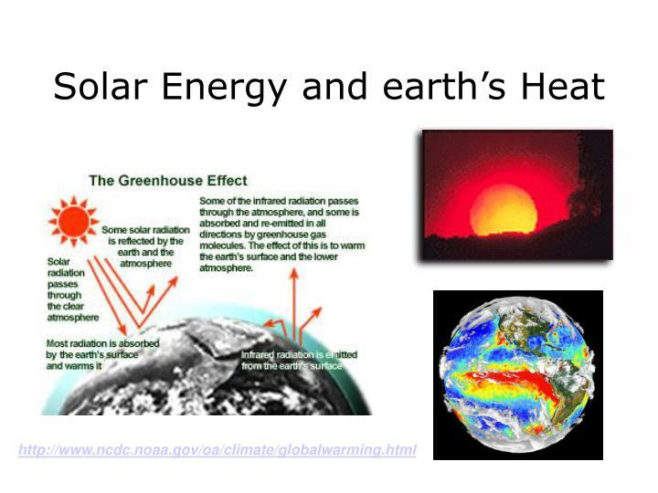 Solar energy and earth s heat