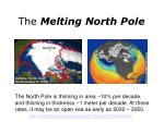 the melting north pole