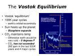 the vostok equilibrium