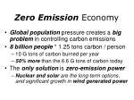 zero emission economy