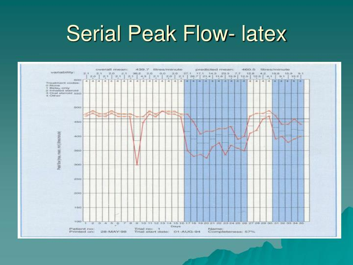 Serial Peak Flow- latex