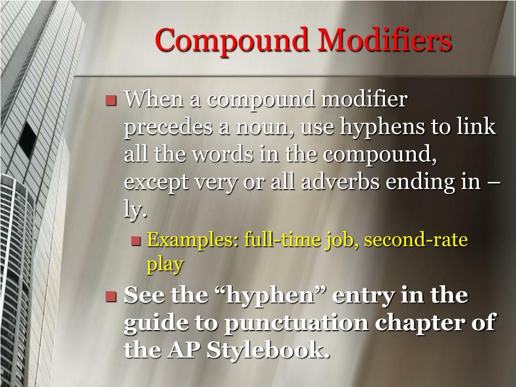Compound Modifiers