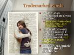 trademarked words