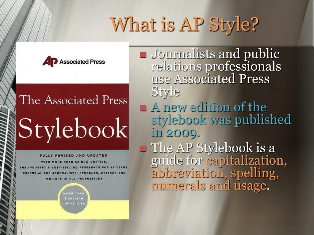 What is AP Style?