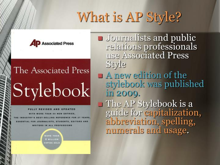 What is ap style