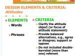 design elements criteria attitudes