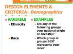 design elements criteria demographics8
