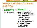 design elements criteria knowledge19