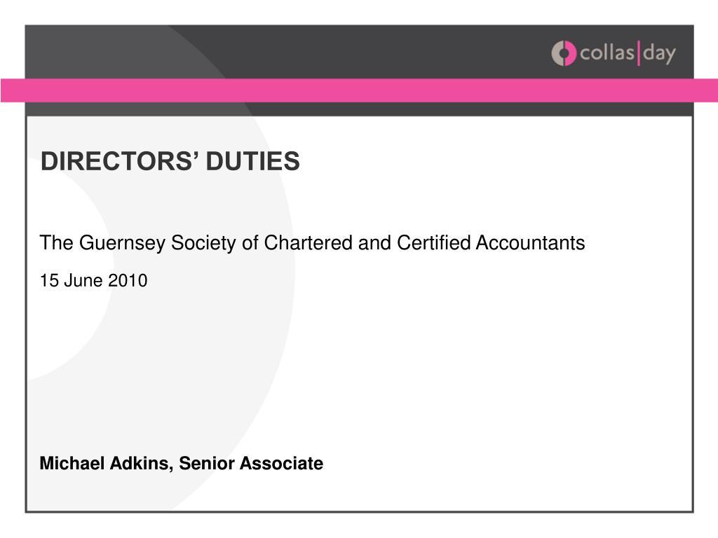 directors duties l.
