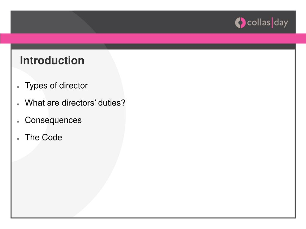 Types of director