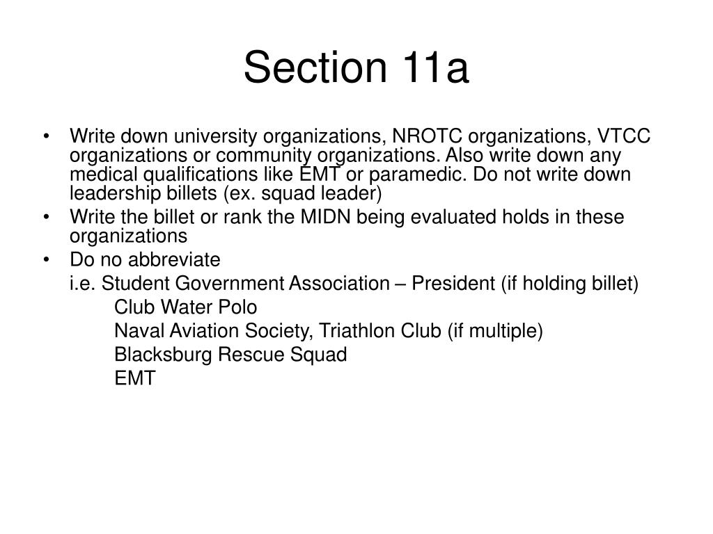 Section 11a