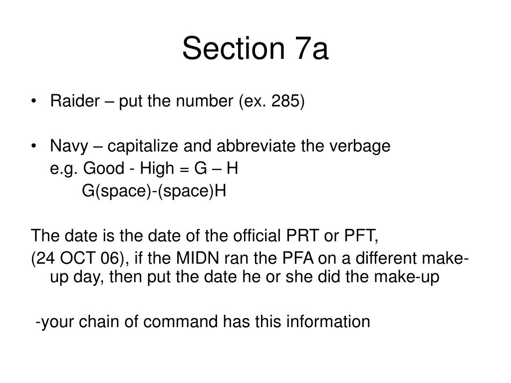 Section 7a