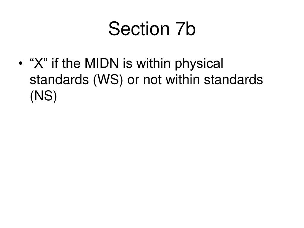 Section 7b