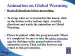 animation on global warming